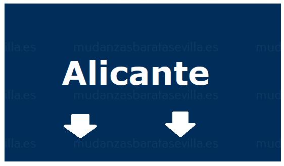 Mudanzas Sevilla Alicante